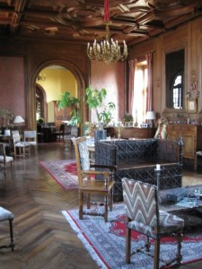 The Great Hall in Chateau Jallenges, Loire Valley in France