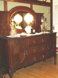 Antique sideboard with original patina