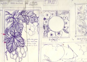 Designs on paper from the 1920's