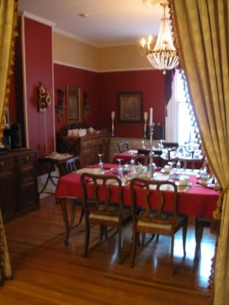 Dining room of the Abbey Manor Inn