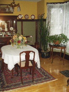Dining room of the Bell Residence