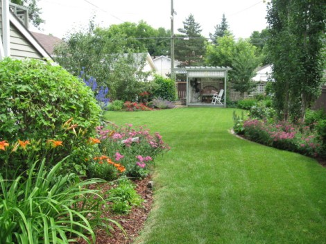 My Old House Garden with Gazebo in the back