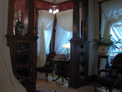 Original millwork is an important aspect of authentic interiors.