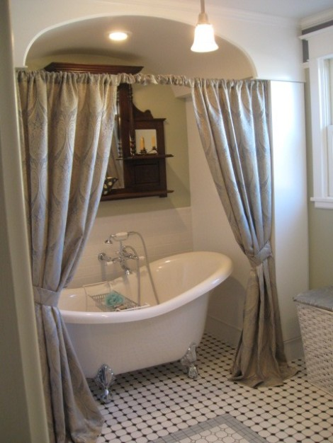 A restored bathroom in a 1912 house