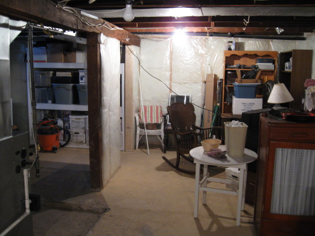 Our basement before & My Old House Basement | Johanne Yakula From Times Past