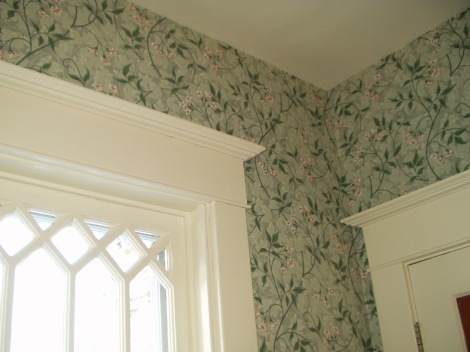 Wallpaper in an old house