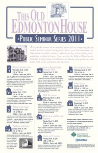 This Old Edmonton House Seminar Series