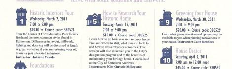 This Old Edmonton House Seminar Series