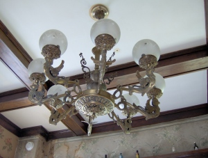 Antique dining room fixture