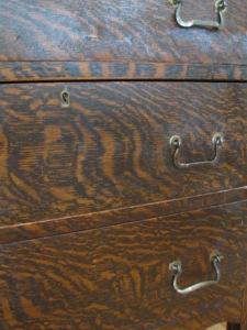 Faux oak dresser detail