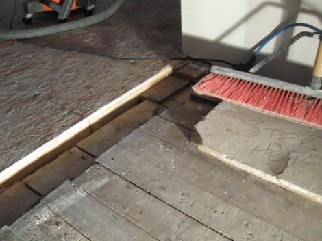 Uneven floors!