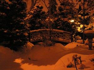 Crawford House yard in winter