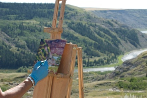 Landscape Painting in the Badlands