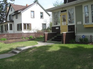 The front of the house before