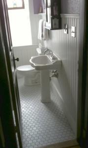 More appropriate floor for 1912 bathroom