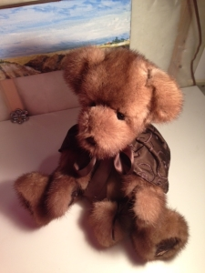 My Teddy Bear made from my beloved Mom's mink coat