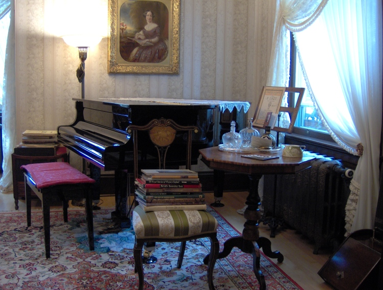 A lavish room.
