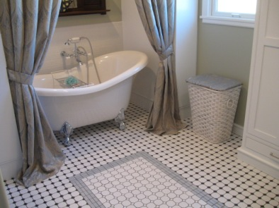 Custom floor in bathroom