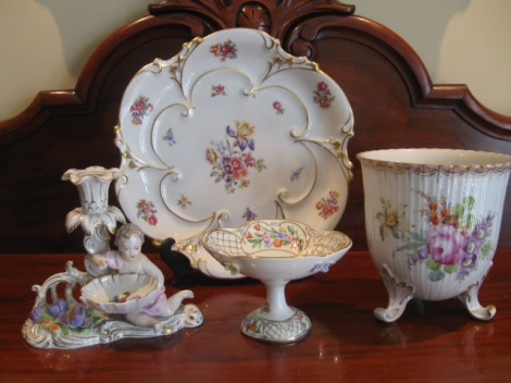 What's happening to the market value of china and porcelain?