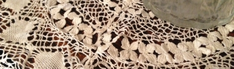 Bobbin lace is handmade and very delicate
