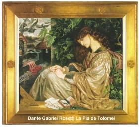 Late 19th century Aesthetic Style painter Rosetti
