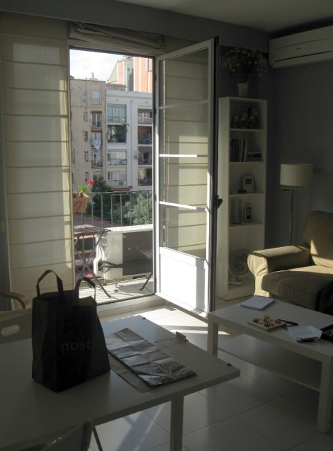 The first apartment where we stayed in a residential area called Eixample in Barcelona