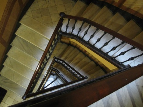Stairs to the Chimney Room - a wonderful 19th C. apartment