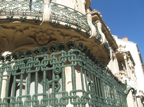 19th Century Art Nouveau iron works in Barcelona, Spain