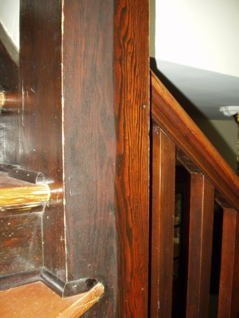 This is an example of the before and after effects of cleaning 100 year old millwork with this technique.