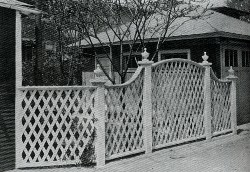"A Fence pattern from the 1926 ""Beautifying the Home Grounds"""