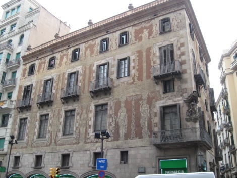 An unusual exterior in Barcelona
