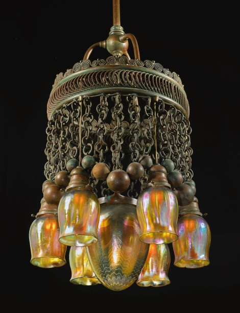 Moorish 8 LIght fixture made by Tiffany's. Photo from Sotheby's web site.