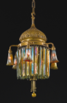 A prism light fixture by Tiffany's. Photo from Sotheby's auction web site.
