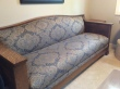 Beautiful Arts & Crafts sofa for sale, originally a C1900 hide-a bed. Quarter-sawn oak.