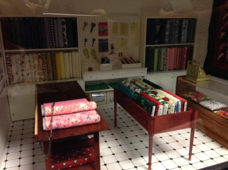 A fabric store. This was created in a square box, thus easy to store.