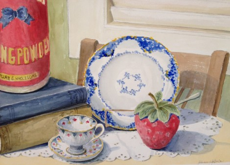 A still life assignment in Beginners watercolor class.
