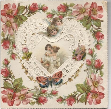 Accept my Love Antique Valentine's Day card