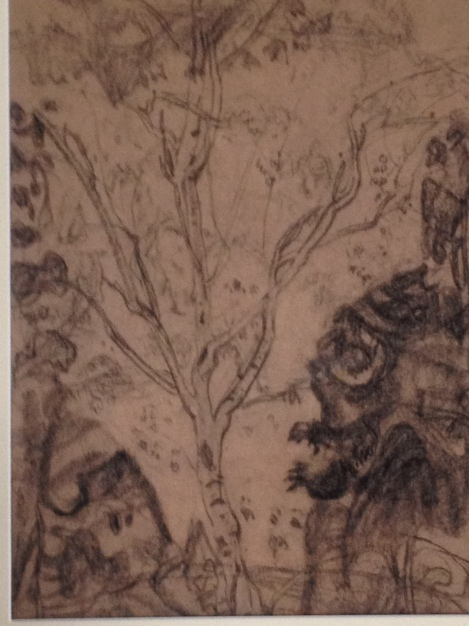 A detail of a sketch by Group of Seven member F.H. Varley.