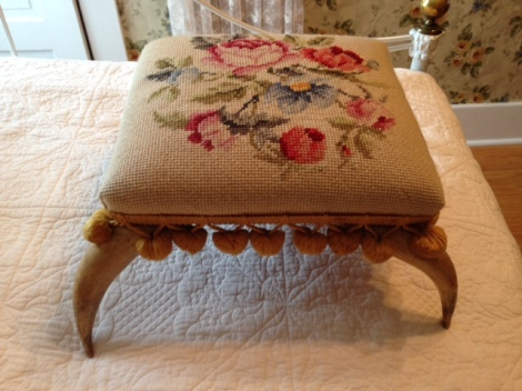 A Victorian footstool