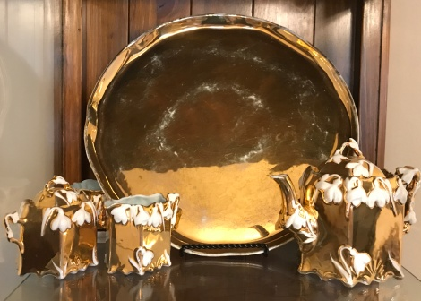 Gold Lustre Tea set
